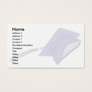 GraduationMortar, Name, Address 1, Address 2, C... Business Card