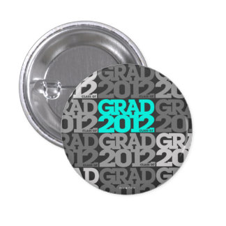 Graduations 2012 Button Teal Black Pattern