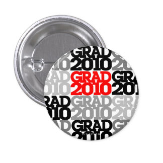 Graduations Class Of 2010 Red Black Button