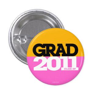 Graduations Class Of 2011 Button Orange Pink