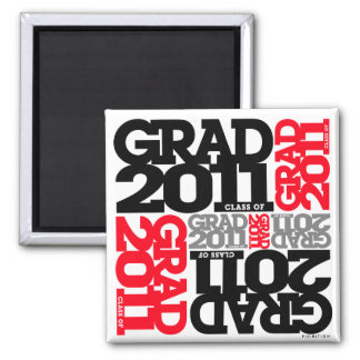 Graduations Class of 2011 Red Magnet Red Black