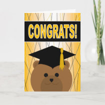 Graduations Congratulations - Cute Bear Graduate Card