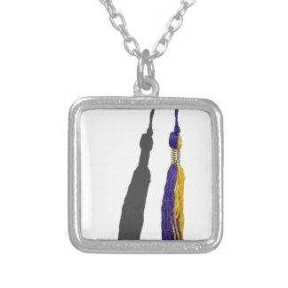 GraduationTassle061615.png Square Pendant Necklace