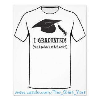¡Gradué!  ¿Puedo volver ahora acostar? Tarjetones