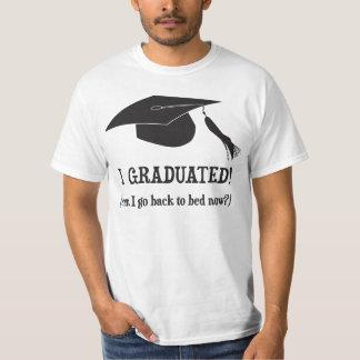 ¡Gradué!  ¿Puedo volver ahora acostar? Poleras