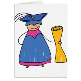 Gradute With A Diploma Greeting Cards