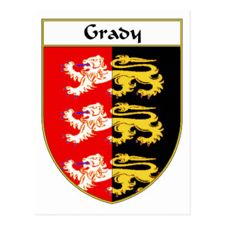 Grady Coat of Arms/Family Crest Postcard