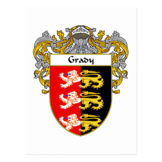 Grady Coat of Arms (Mantled) Postcard