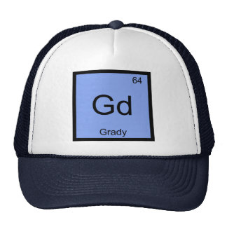 Grady  Name Chemistry Element Periodic Table Trucker Hat