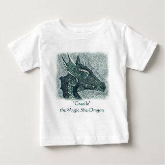 Graelle the Magical She Dragon Fantasy Art Baby T-Shirt