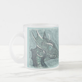 Graelle the Magical She Dragon Fantasy Art Frosted Glass Coffee Mug