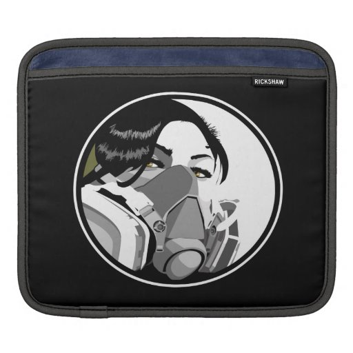 Graf artist with white graf text iPad sleeves