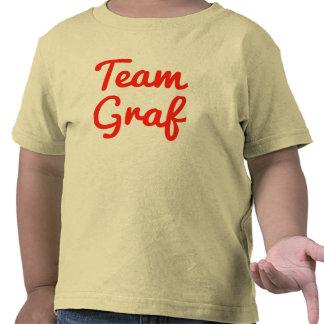 Graf del equipo camisetas