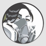 graf mask round stickers