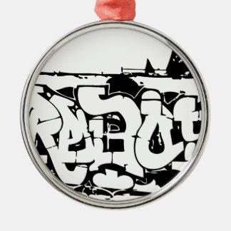 graf rebelde adorno navideño redondo de metal