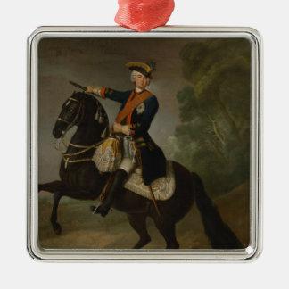 Graf von Schwerin de Kurt Cristóbal a caballo Adorno Navideño Cuadrado De Metal