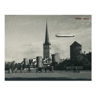 Graf Zeppelin in Tallinn Postcard