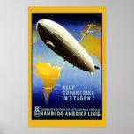 Graf Zeppelin Vintage German Poster