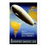 Graf Zeppelin Vintage german Travel Postal