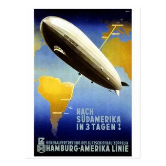 Graf Zeppelin Vintage German Travel Postcard