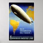 Graf Zeppelin Vintage German Travel Poster