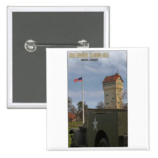Grafenwöhr Tower and American Flag Pinback Button