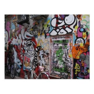 Graff colorido tarjeta postal