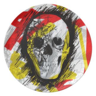 Graff ic Skull Dinner Plates