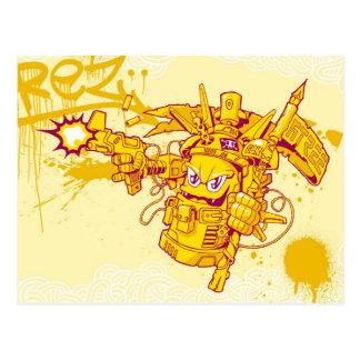 Graffit Spray Gun Postcard