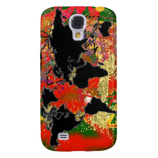 Graffited World Map Samsung Galaxy S4 Covers