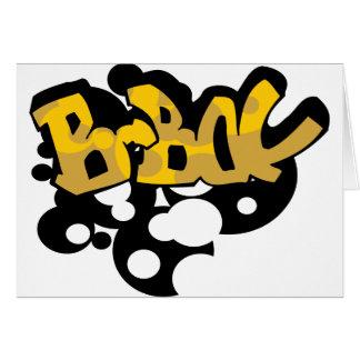 graffiti_072c111606 BBOY BOY DANCE MUSIC BEATS GRA Greeting Cards