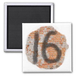 Graffiti 16th Birthday Gifts Magnet