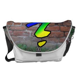 GRAFFITI #1 QUESTION MARK MESSENGER BAGS