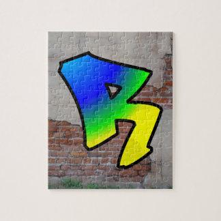 GRAFFITI #1 R JIGSAW PUZZLE