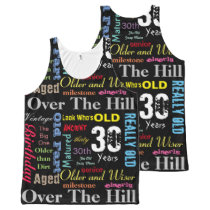 Graffiti 30th Birthday Art All-Over-Print Tank Top