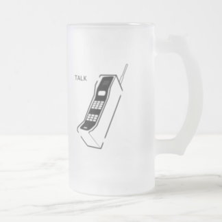 Graffiti 80s Cellphone 16 Oz Frosted Glass Beer Mug