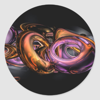 Graffiti Abstract Classic Round Sticker