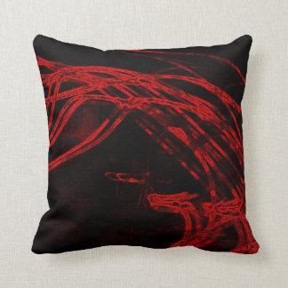 Graffiti Abstract Lines blood red Throw Pillow