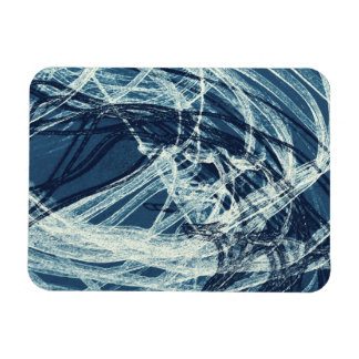 Graffiti Abstract Lines blue Magnet