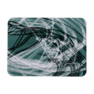 Graffiti Abstract Lines green Flexible Magnets