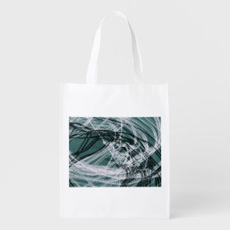 Graffiti Abstract Lines green Grocery Bag