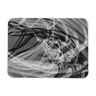 Graffiti Abstract Lines grey Flexible Magnet