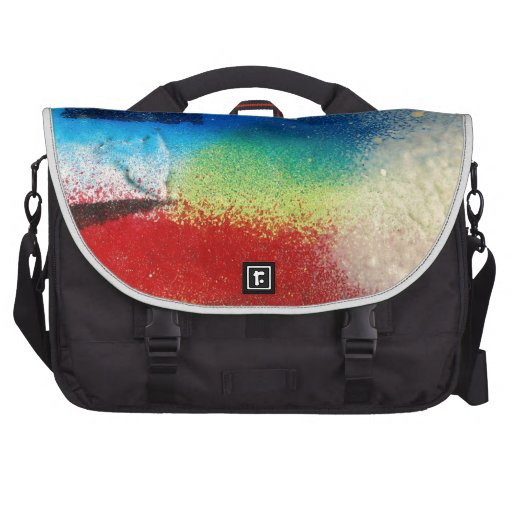graffiti abstract paint background laptop computer bag