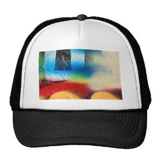 graffiti abstract paint background trucker hat