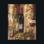 "Graffiti and Wine Canvas Print<br><div class=""desc"">&#169; Silvia Vassileva / Wild Apple.  An image featuring wine bottles,  wine glasses,  and a bunch of grapes. The image has an abstract background in red and gold.</div>"
