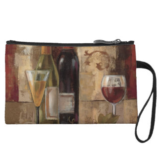 Graffiti and Wine Wristlet Wallet