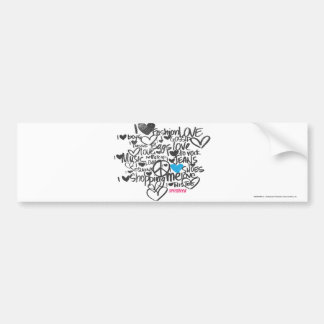 Graffiti Aqua Bumper Sticker