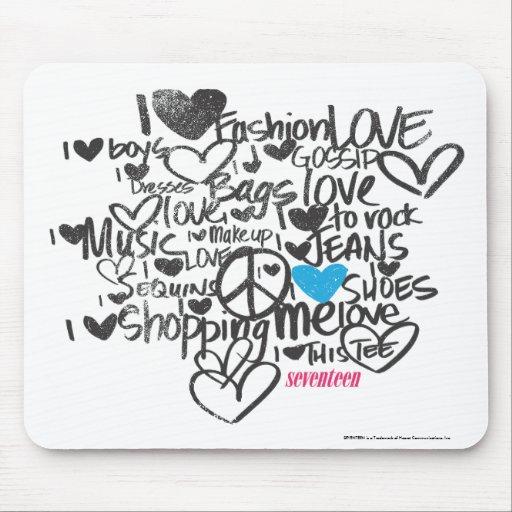 Graffiti Aqua Mouse Pad