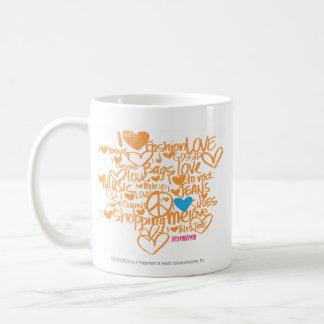 Graffiti Aqua/Orange Classic White Coffee Mug