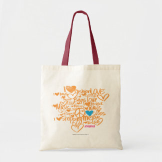 Graffiti Aqua/Orange Tote Bag